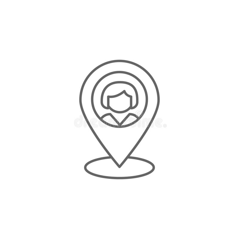 localization friendship outline icon. Elements of friendship line icon. Signs, symbols and vectors can be used for web, logo, royalty free illustration