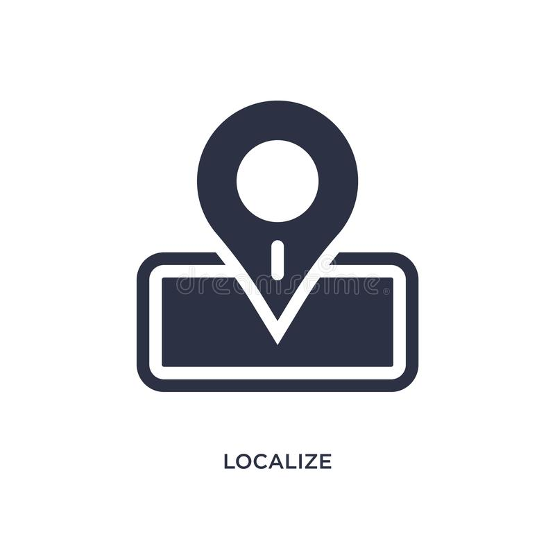 localize icon on white background. Simple element illustration from packing and delivery concept stock illustration