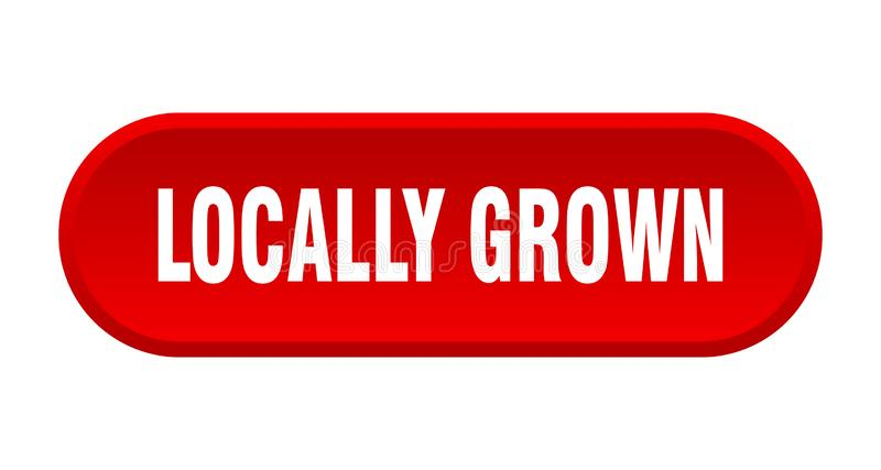 Locally grown button. Locally grown rounded isolated sign.  locally grown stock illustration