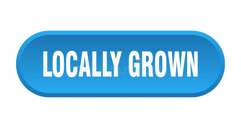 Locally grown button. Locally grown rounded isolated sign.  locally grown vector illustration