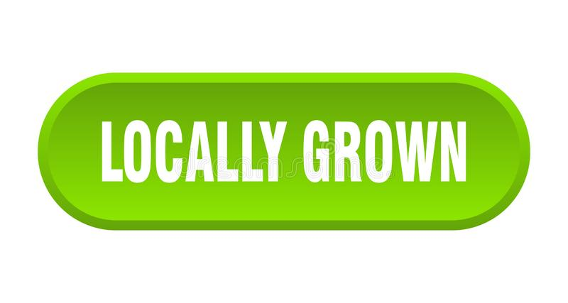 Locally grown button. Locally grown rounded isolated sign.  locally grown royalty free illustration