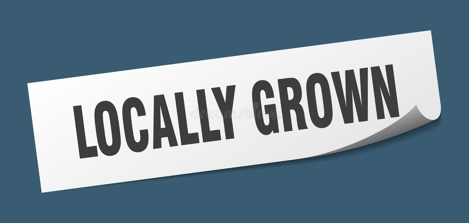 Locally grown sticker. Locally grown square sign. locally grown royalty free illustration