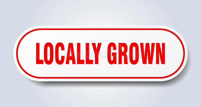 Locally grown sticker. Locally grown rounded isolated sign.  locally grown royalty free illustration