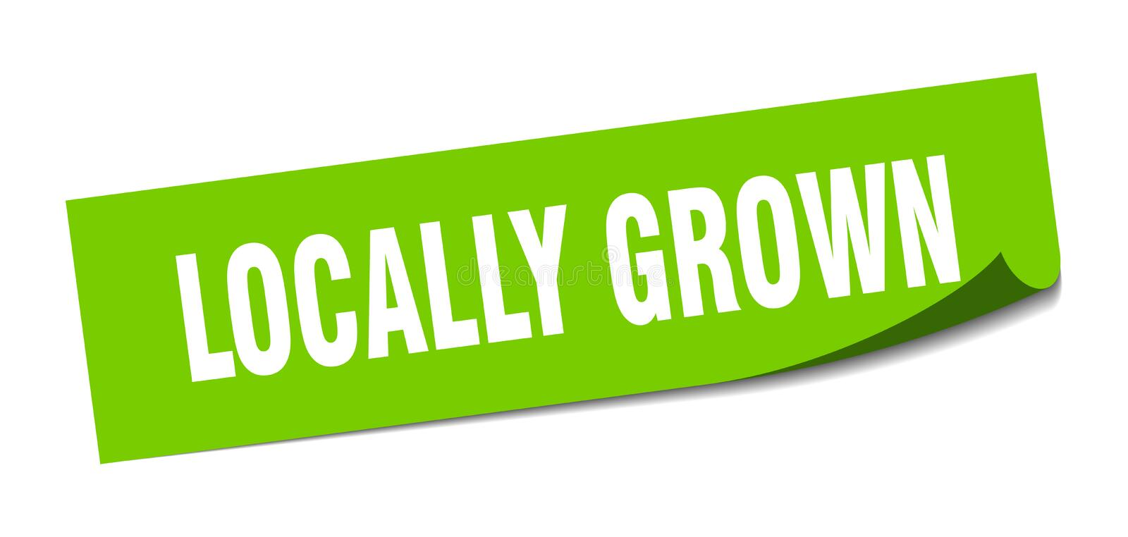Locally grown sticker. Locally grown square sign. locally grown stock illustration