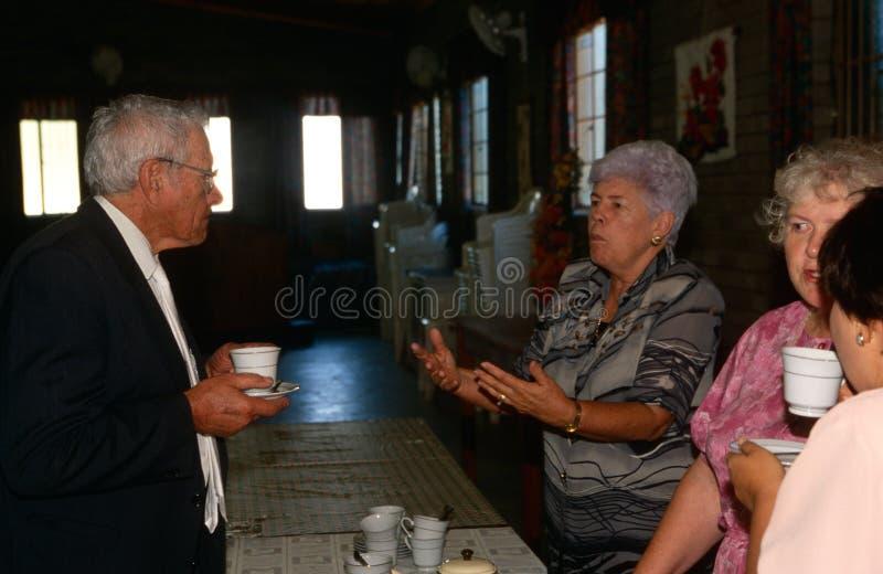Locals in een Kerk in Zuid-Afrika royalty-vrije stock fotografie