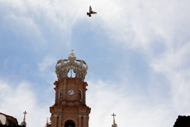 Main Square in Centro Puerto Vallarta. Locals and scenery in main square of central Puerto Vallarta, Jalisco, Mexico royalty free stock images