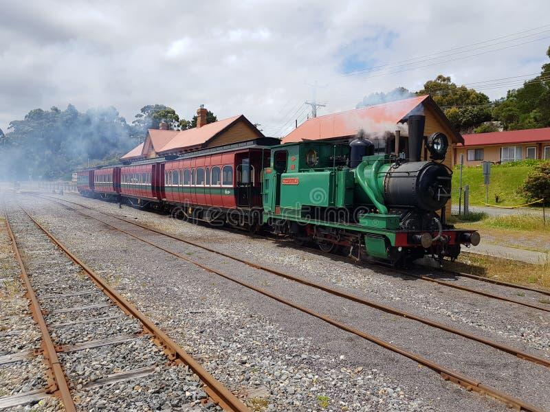 Locamotion histórico do trem do vapor fotografia de stock royalty free