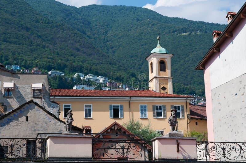 Locarno, cantone del Ticino, Svizzera, Europa immagine stock