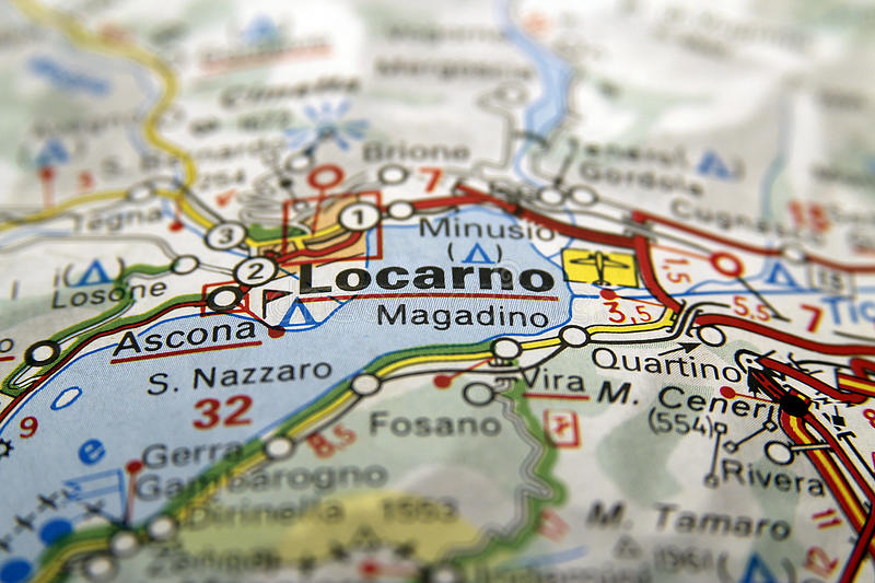 Locarno on the map stock image Image of lake vision 42284079