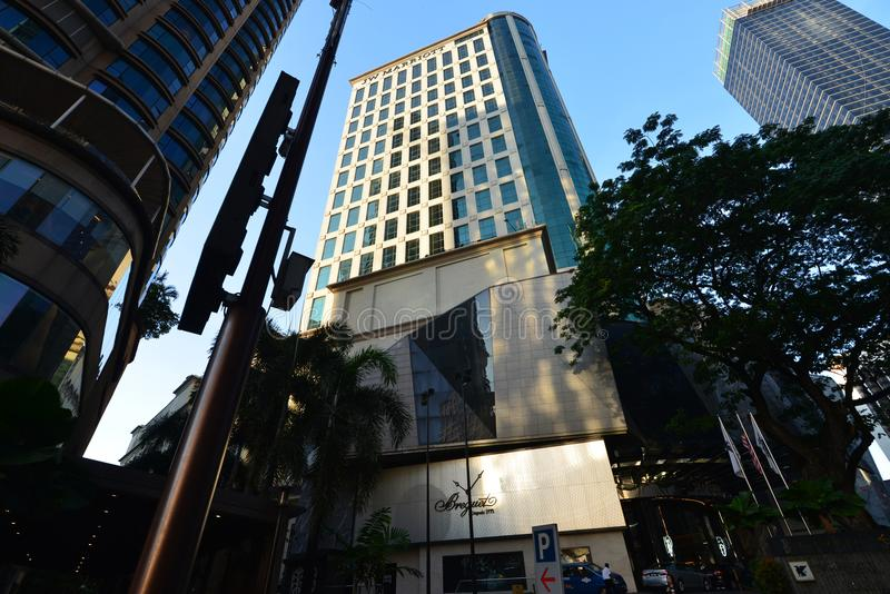 J W Marriot Kuala Lumpur. Located along Bintang Walk in the Golden Triangle, JW Marriott Hotel, Kuala Lumpur offers accommodations within the hustle and bustle stock photos