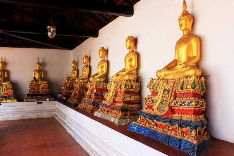 Buddha Image In Wat Amphawan Chetiyaram, Amphawa, Thailand. Located at Amphawa area, a district of Samut Songkhram province, is an important ancient temple royalty free stock images