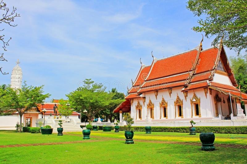 Wat Amphawan Chetiyaram, Amphawa, Thailand. Located at Amphawa area, a district of Samut Songkhram province, is an important ancient temple, formerly was name ` royalty free stock photo