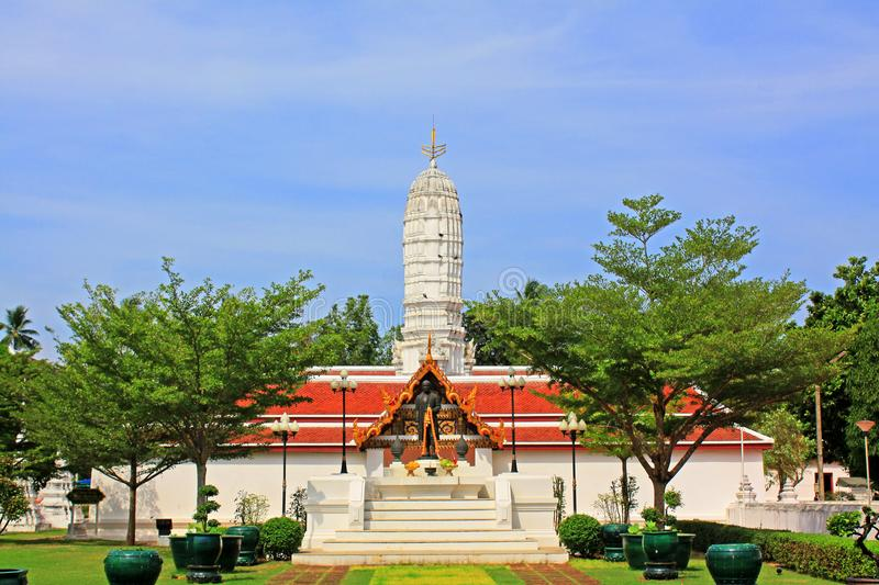 Wat Amphawan Chetiyaram, Amphawa, Thailand. Located at Amphawa area, a district of Samut Songkhram province, is an important ancient temple, formerly was name ` royalty free stock image