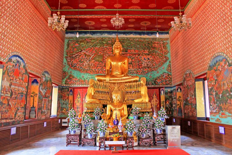Buddha Image In Wat Amphawan Chetiyaram, Amphawa, Thailand. Located at Amphawa area, a district of Samut Songkhram province, is an important ancient temple stock images