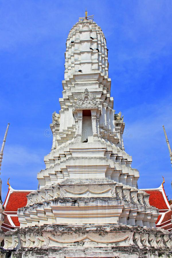 Wat Amphawan Chetiyaram, Amphawa, Thailand. Located at Amphawa area, a district of Samut Songkhram province, is an important ancient temple, formerly was name ` stock images