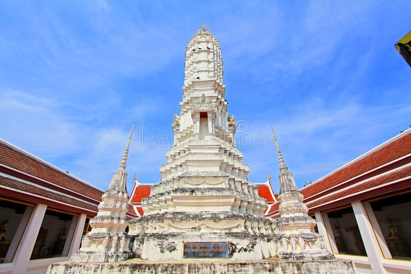 Wat Amphawan Chetiyaram, Amphawa, Thailand. Located at Amphawa area, a district of Samut Songkhram province, is an important ancient temple, formerly was name ` stock image