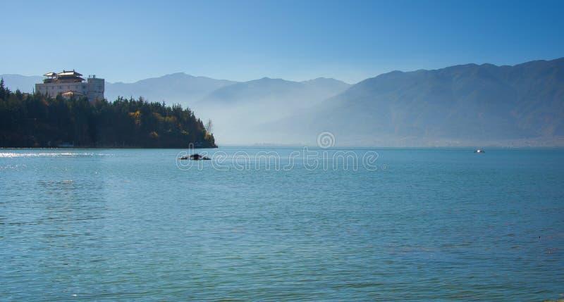 Coastal scenery of erhai lake stock image