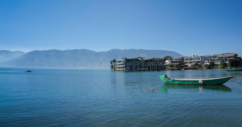 Coastal scenery of erhai lake royalty free stock photography