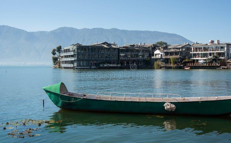 Coastal scenery of erhai lake stock photos