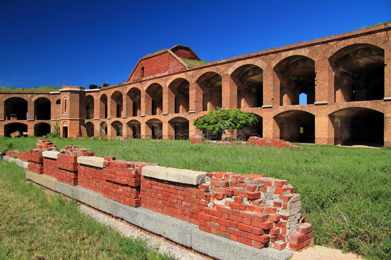 Fort Jefferson in Dry Tortugas National Park, Florida Keys. Located on Garden Key in Dry Tortugas National Park, Fort Jefferson is perhaps the most and royalty free stock photo