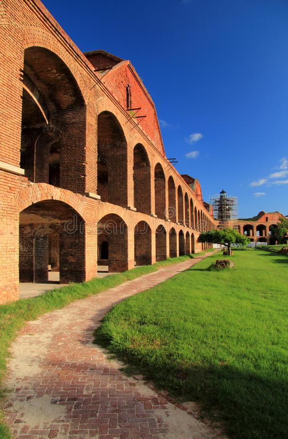 Fort Jefferson in Dry Tortugas National Park, Florida Keys. Located on Garden Key in Dry Tortugas National Park, Fort Jefferson is perhaps the most and stock image