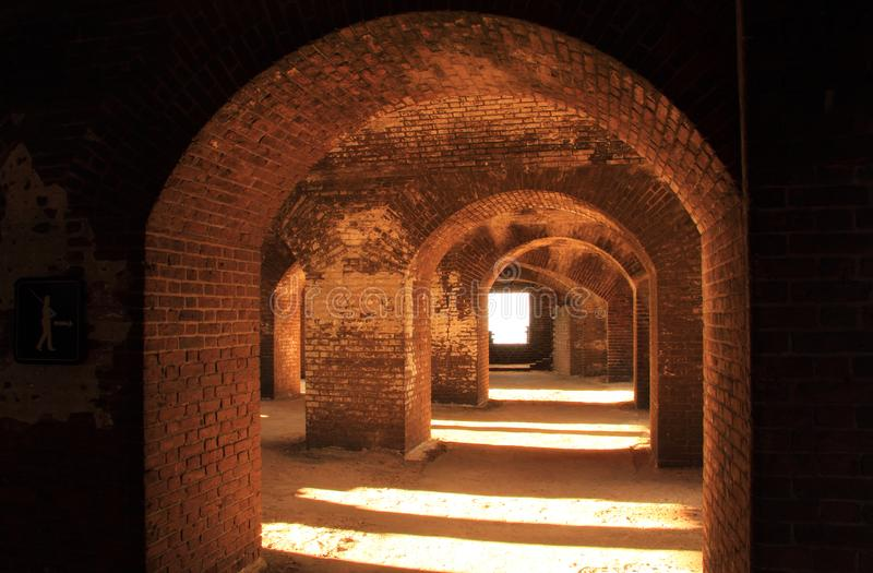 Fort Jefferson Interior, Dry Tortugas National Park, Florida Keys. Located on Garden Key in Dry Tortugas National Park, Fort Jefferson is perhaps the most stock photos