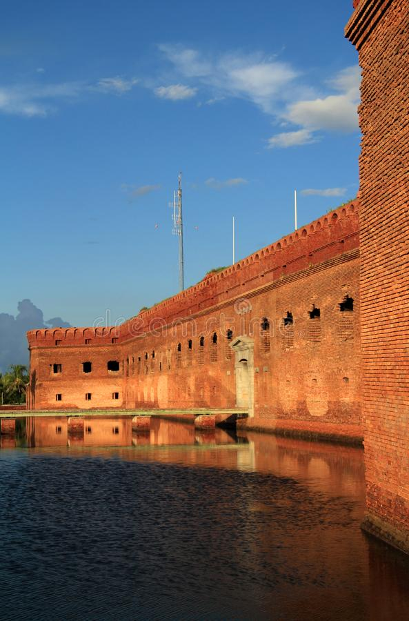 Fort Jefferson in Dry Tortugas National Park, Florida Keys. Located on Garden Key in Dry Tortugas National Park, Fort Jefferson is perhaps the most isolated and royalty free stock photography