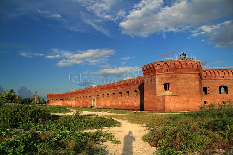 Fort Jefferson in Dry Tortugas National Park, Florida Keys. Located on Garden Key in Dry Tortugas National Park, Fort Jefferson is perhaps the most isolated and royalty free stock photo