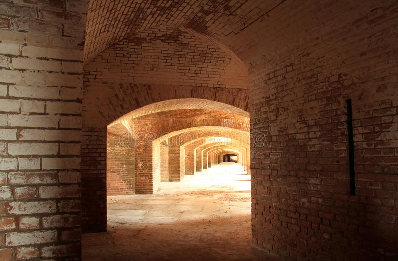 Fort Jefferson in Dry Tortugas National Park, Florida Keys. Located on Garden Key in Dry Tortugas National Park, Fort Jefferson is perhaps the most isolated and royalty free stock photos