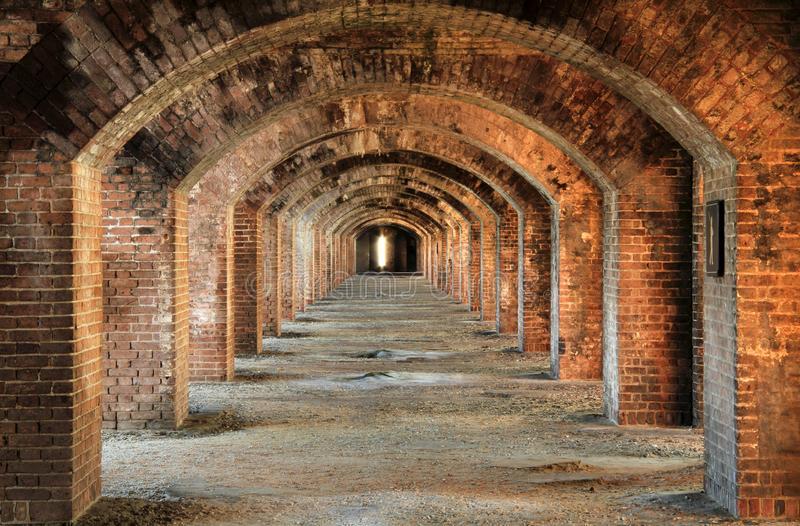 Fort Jefferson Interior, Dry Tortugas National Park, Florida Keys. Located on Garden Key in Dry Tortugas National Park, Fort Jefferson is perhaps the most stock image