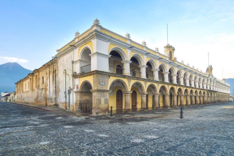 Palacio de los Capitans Antigua, Guatemala stock photo