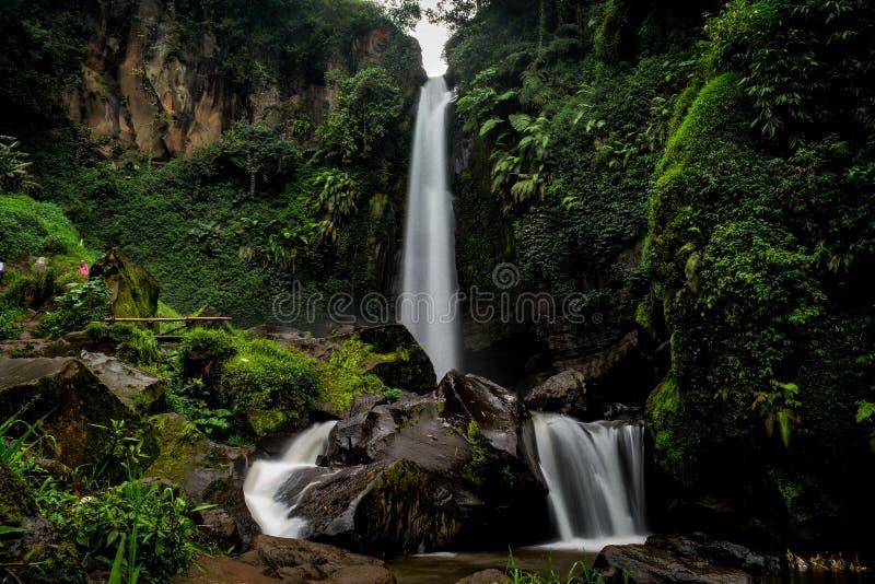 Coban Talun Waterfall, Malang, East Java, Indonesia. Located in Malang, East Java, Indonesia royalty free stock image
