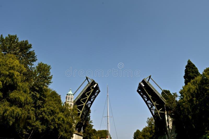 Montlake Bridge royalty free stock image