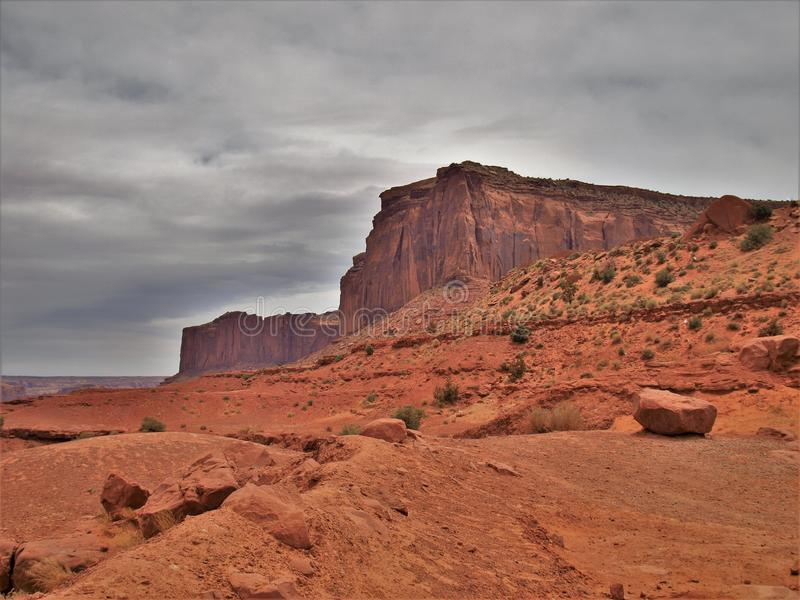 Monument Valley under Cloudy Skies royalty free stock photography