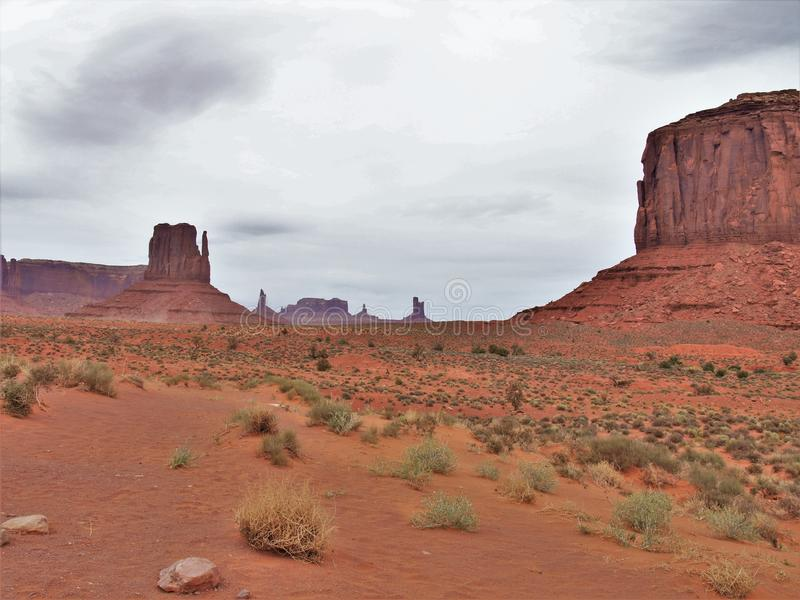 Monument Valley under Cloudy Skies stock photography