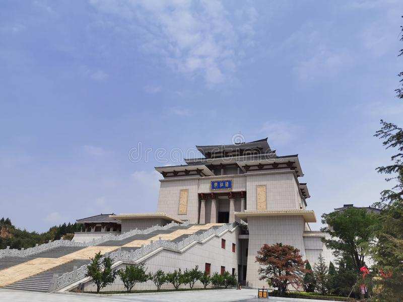 Located in the Yudu District of Shanxi Province, the Emperor's Temple (tourist resort),. Emperors royalty free stock photography