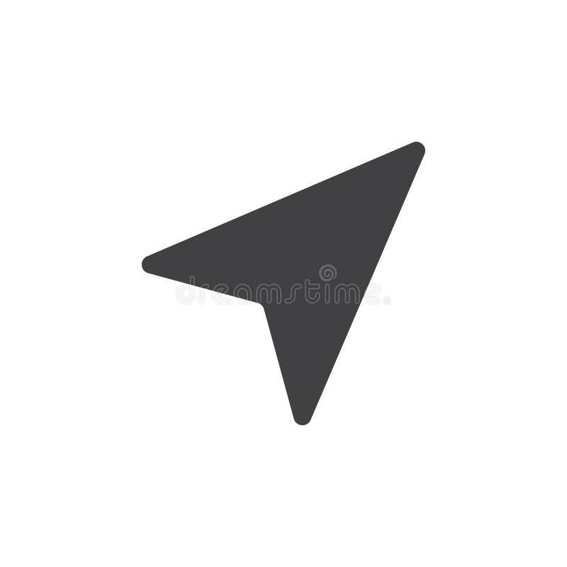 Location arrow icon , solid logo illustration, pictogram i stock illustration