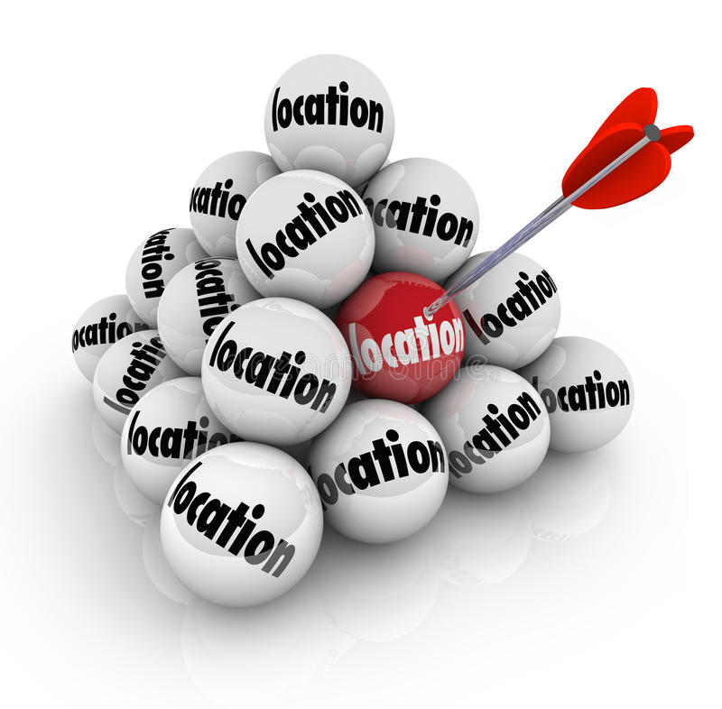 Download Location Ball Pyramid Many Choices Choose Place Stock Illustration - Image: 39022222