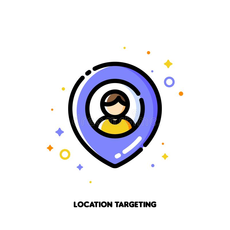 Location-based marketing concept of finding local businesses vector illustration