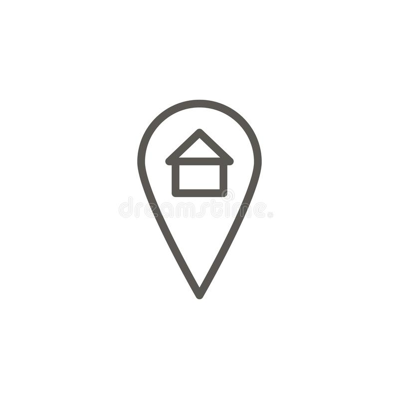 Location, house, home vector icon. Simple element illustration from UI concept. Location, house, home vector icon. Real estate stock illustration