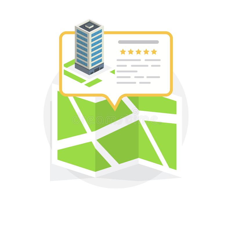 Location Icon. Locating Your Business. Flat Design. Isolated Illustration royalty free illustration