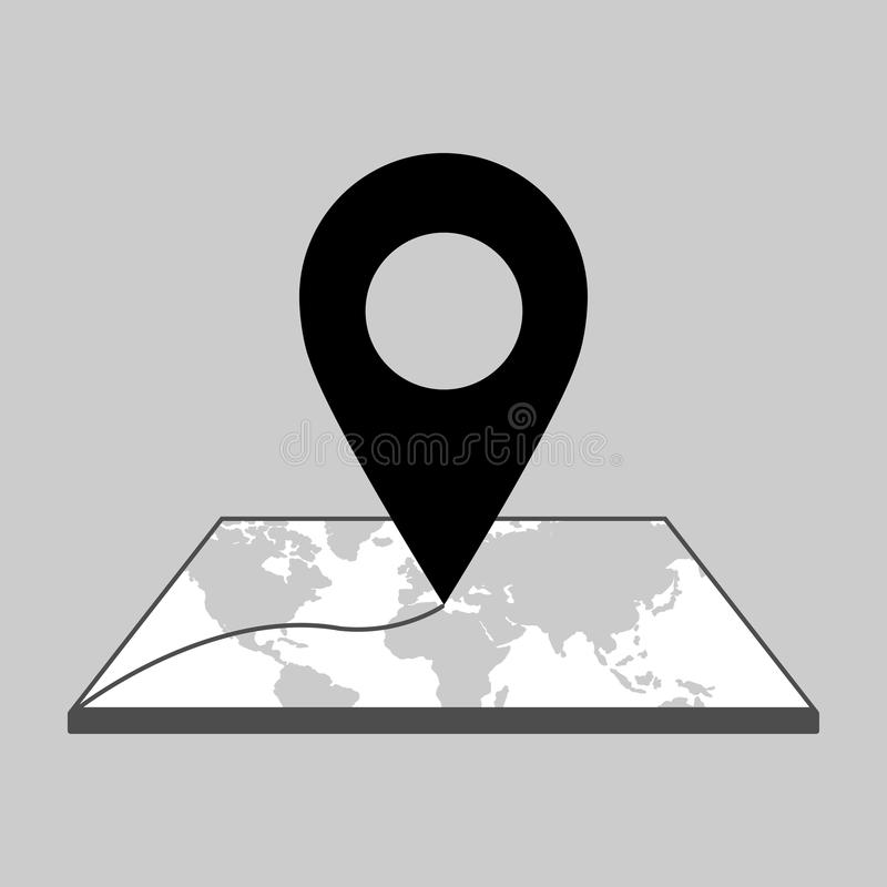 Location icon sign. Vector isolated royalty free illustration