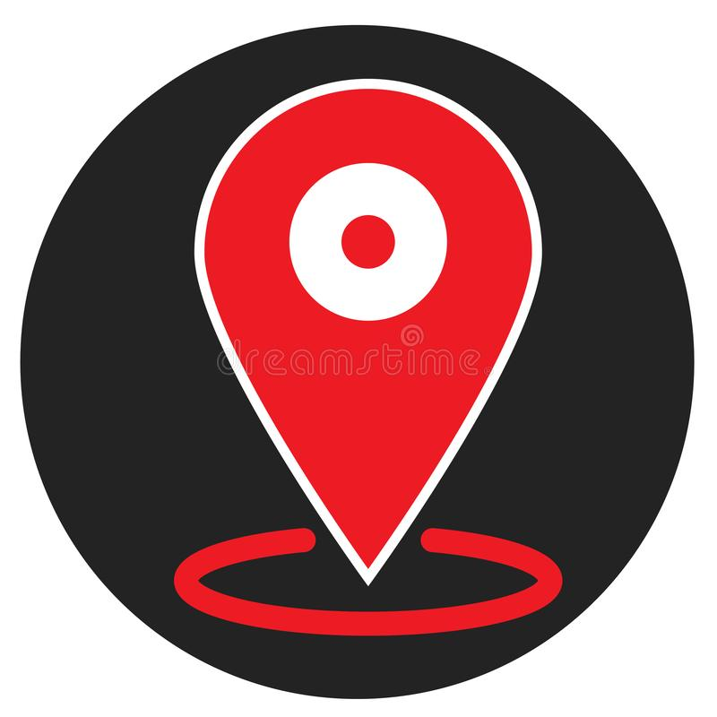 Location icon on white background. flat style. location icon for your web site design, logo, app, UI. map pin symbol. placeholder. Sign vector illustration