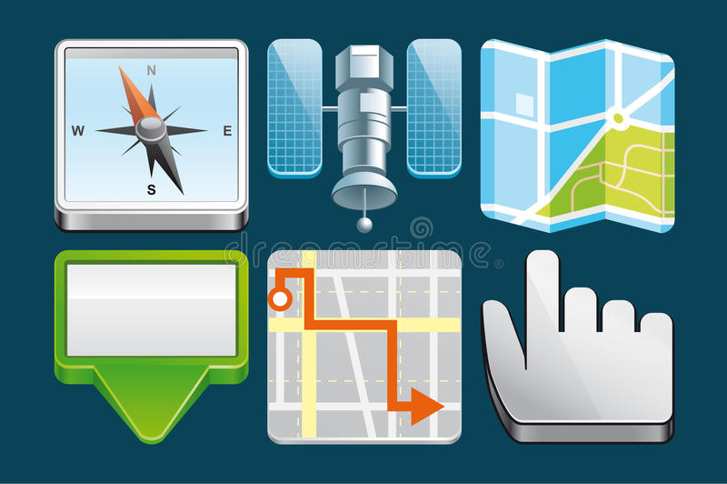 Download Location  icons stock vector. Image of illustration, orientation - 29490622