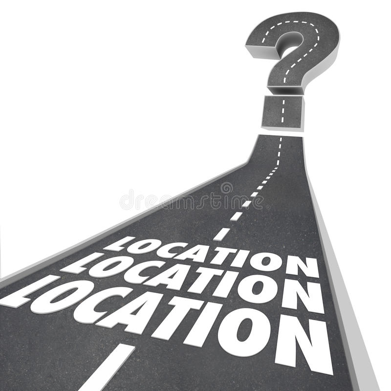 Location Location Location Words Road Destination vector illustration