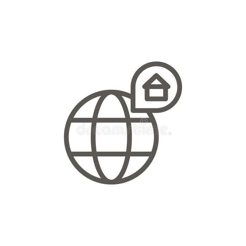 Location, map, home vector icon. Simple element illustration from UI concept. Location, map, home vector icon. Real estate concept vector illustration