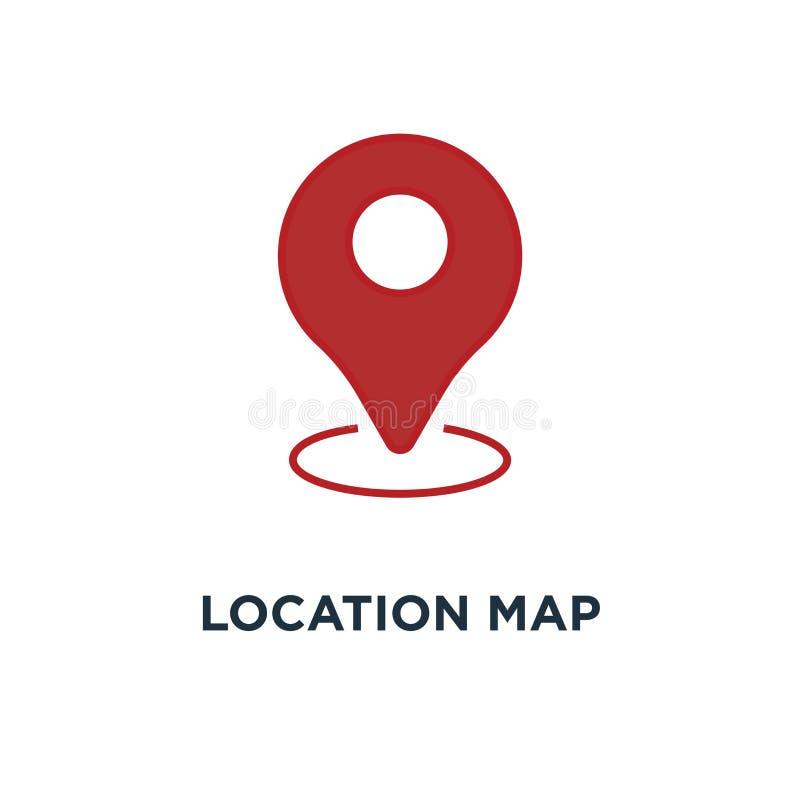 Location map icon. gps pointer mark concept symbol design, vecto. R illustration royalty free illustration