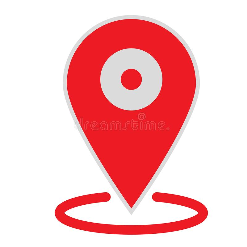 Location map icon on white background. flat style. location map icon for your web site design, logo, app, UI. gps pointer mark stock illustration