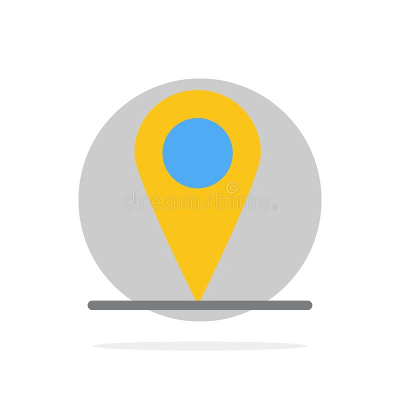 Location, Map, Interface Abstract Circle Background Flat color Icon stock illustration