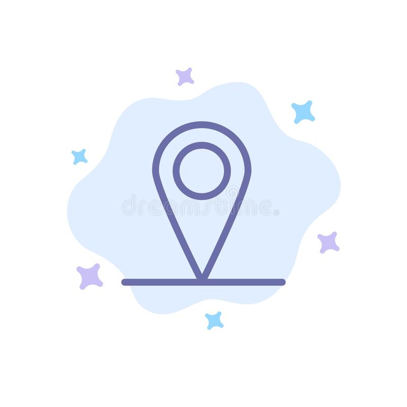 Location, Map, Interface Blue Icon on Abstract Cloud Background stock illustration
